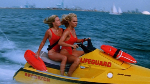A scene from TV show Baywatch
