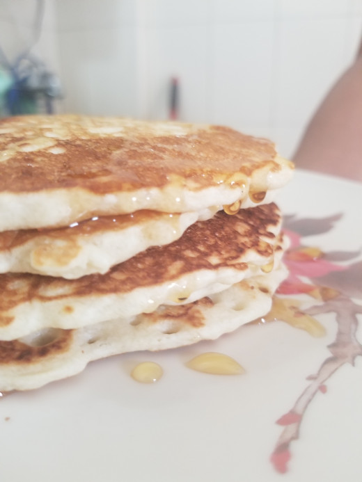 Drizzle honey or agave syrup over the hot pancakes. ENJOY!