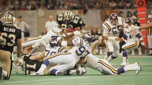 Saints in the 1988 Wild Card matchup against the Minnesota Vikings.