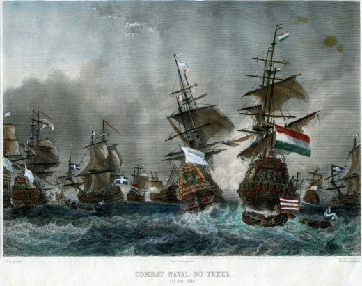 The Battle of Texel between French privateers under Jean Bart and a Dutch squadron showed the effectiveness of the aggressive and tough French corsairs.