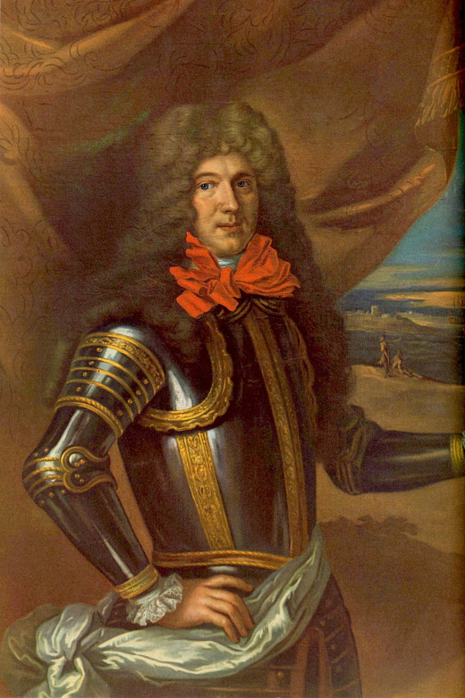 The French admiral Tourville, main admiral of the fleet and a capable commander