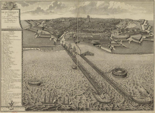 The fortifications of Dunkirk show the impressive work which went into making it into a major privateering base.