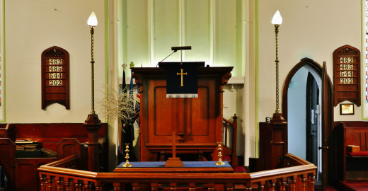 The pulpit has a purpose