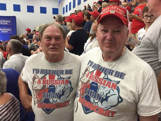 Two Donald Trump supporters fully supporting Russia's interference with our election.