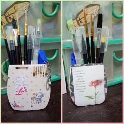 D-I-Y Pen or Brush Holder