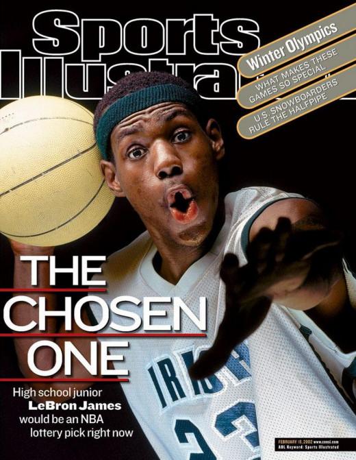 Lebron James, Cover February 2002.