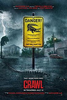The theatrical release and promotional use poster for the movie, Crawl.