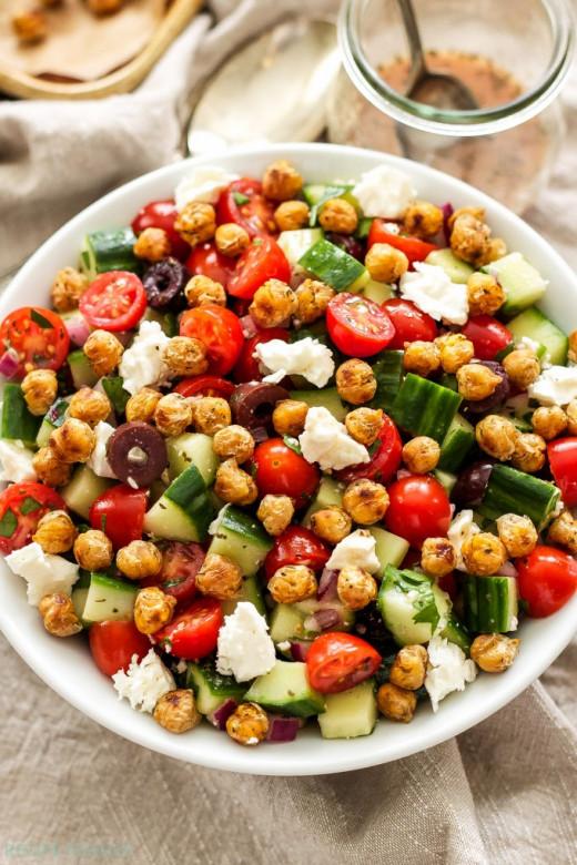 Greek tomato cucumber salad