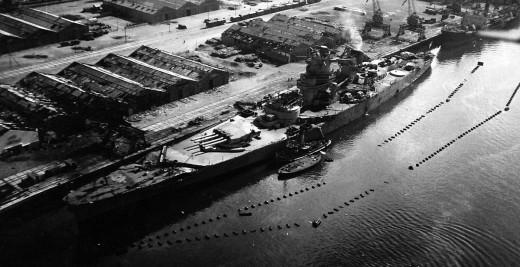 French battleship Jean Bart at Casablanca