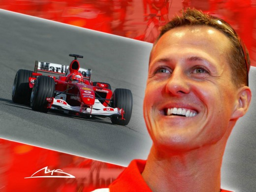 Michael Schumacher, seven time champion, out of the race for sometime, is again coming back