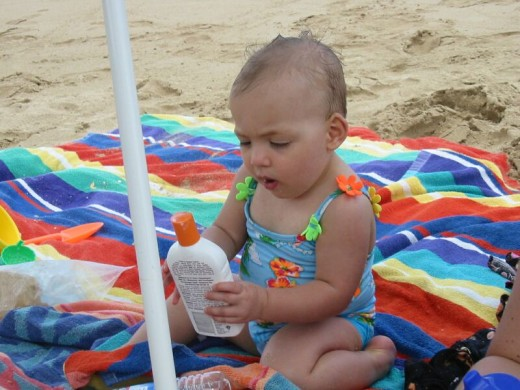 Keep baby in the shade and apply plenty of sunscreen!