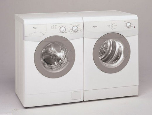 A wonderful Whirlpool 24 inch front load laundry pair