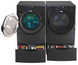 The Duet Washer Dryer Combination from Whirlpool can wash up to 16 pairs of jeans at once!