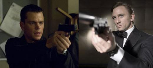 Jason Bourne (Left) and James Bond (Right)