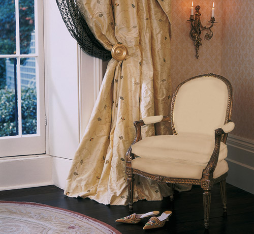 The sheer magnificence of beautiful silk curtains