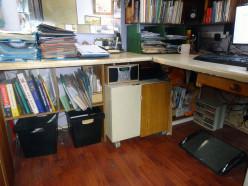 Creating Usable Under Desk Storage Space