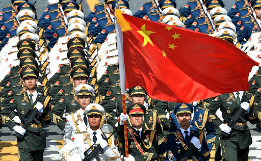 Soldiers of the People's Liberation Army of China at the military parade to mark the 70th anniversary of Victory in the 1941–1945 Great Patriotic War