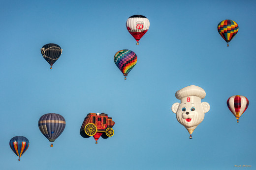 Hundreds of hot air balloons drift across the skies for nine days each October. The yearly event is sponsored by Canon.