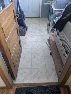 Floor Tile to Hardwood Laminate Flooring Conversion