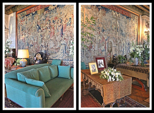 Two panels from Triumph of the Seven Virtues, on display at Biltmore.