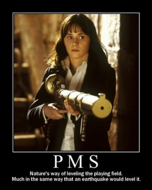 I Have PMS & I'm Armed - Any Questions?
