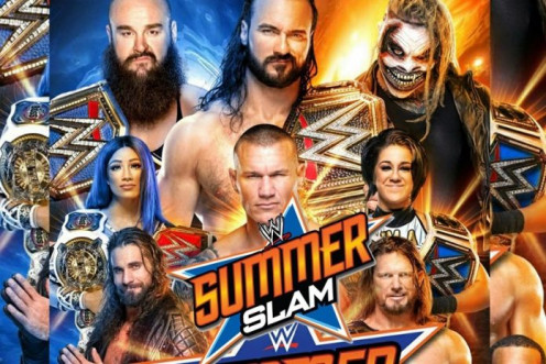 Promotional poster for the annual WWE PPV, SummerSlam for 2020.