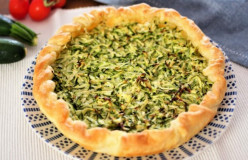 Zucchini Pie With Crust
