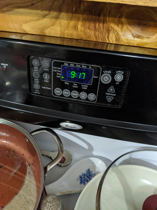 timer for preheat time