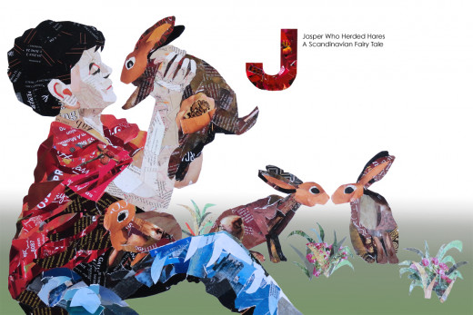 The illustration for Jasper, Who Herded Hares