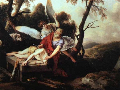 Abraham obeys to sacrifice Isaac