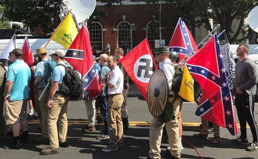 the 2017 Unite the RIght rally in Charlottesville, VA