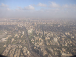Cairo City, the Nile and the Giza Pyramid Complex