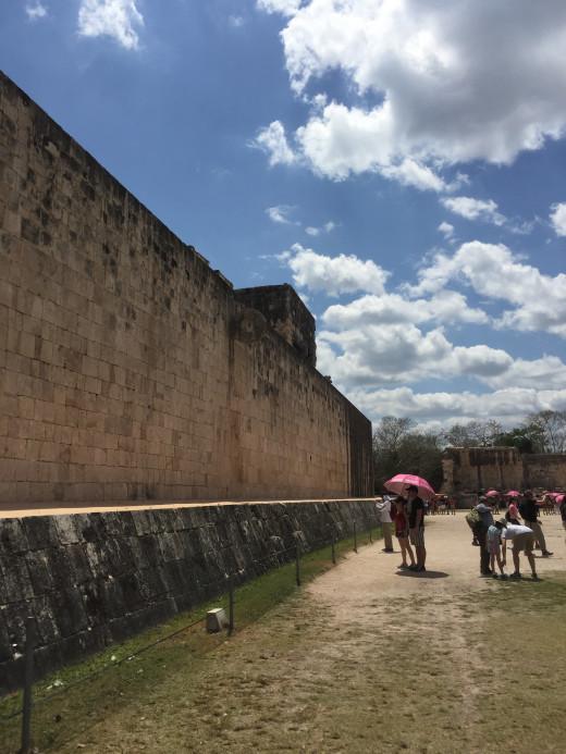 The Mayan Ball game court © Justina Janeliunaite
