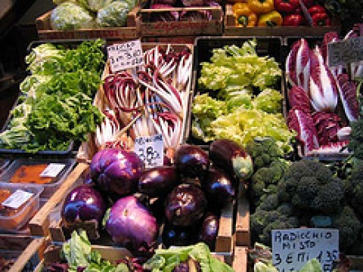 Italian vegetable market
