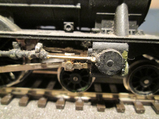 D49/2 62764 'The Garth', Lentz Rotary Cam detail - conversion by means of a Crownline kit  [maker no longer trading]