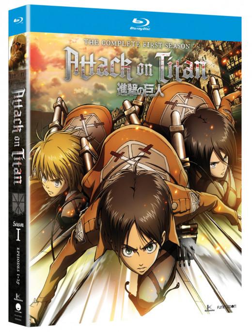 """Attack on Titan"" season one blu-ray cover."