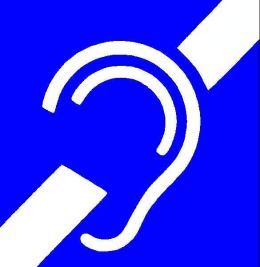 The international symbol for deafness