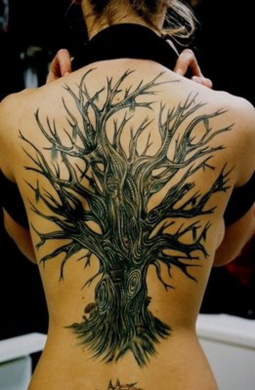 back piece tattoos. Tree Back Piece Tattoo