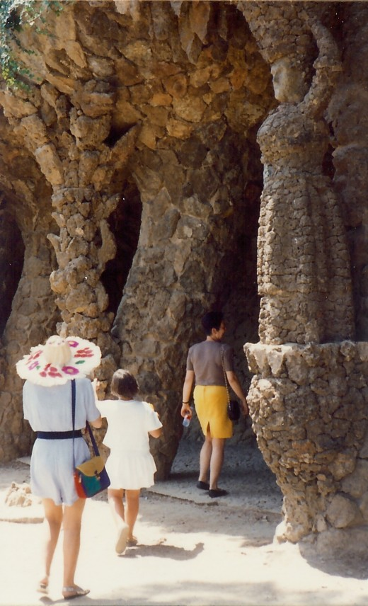 Support columns in Guell Park