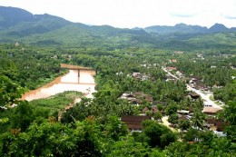 Bird's-eye view of Luang Prabang