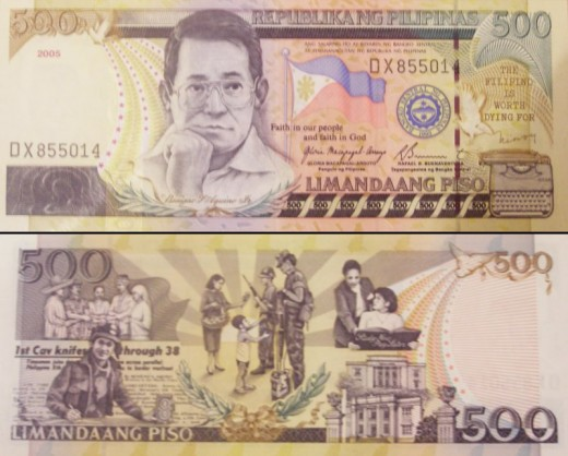 There is a possibility that Cory Aquino will join her husband in the 500 peso bill.