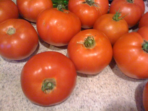 Fresh Home Grown Tomatoes