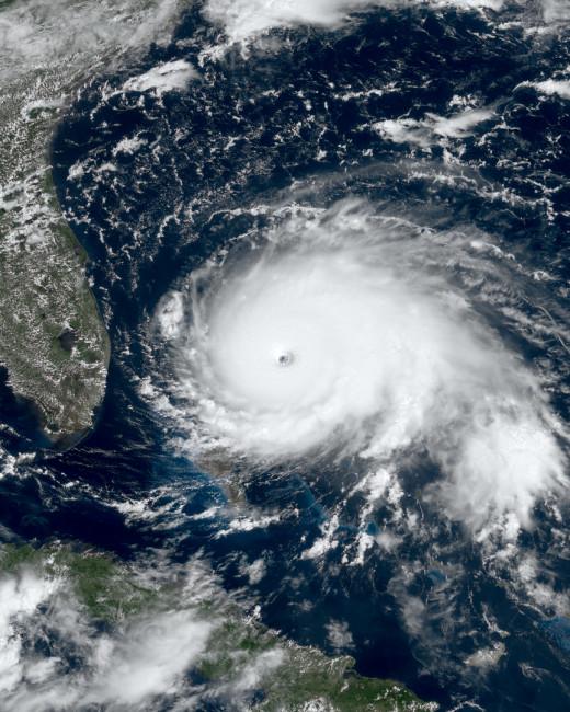 Hurricane Dorian at peak intensity on September 1, 2019