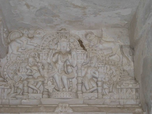 Carving in lime in Neminath Temple, Shatrunjay Hills, Palitana