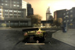 Yellow Porche using speed breaker (bullet time, slow time), racing car