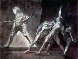 Fuseli's image of Hamlet and the ghost