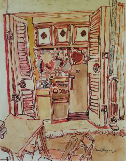 Kitchenette - Watercolor and Markers