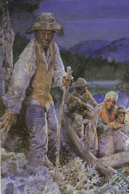 Jerry Pinkney (1939-  ) Cover for Underground Railroad Official National Park Handbook Reprint 1999