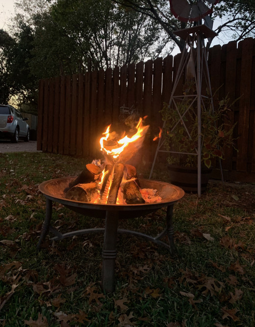 This fairly inexpensive fire pit is portable so you can have a fire wherever you like!