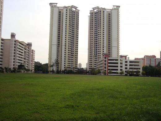 Two tall apartment buildings at St.Georges, Near Boonkeng, Singapore